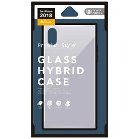 PGA iPhone XR 6.1インチ用 ガラスハイブリッドケース シルバー PG-18YGT02SV シルバー