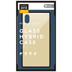 PGA iPhone XR 6.1インチ用 ガラスハイブリッドケース ゴールド PG-18YGT03GD ゴールド
