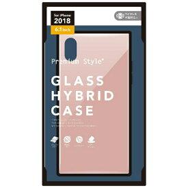PGA iPhone XR 6.1インチ用 ガラスハイブリッドケース ピンク PG-18YGT04PK ピンク