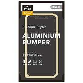 PGA iPhone XR 6.1インチ用 アルミニウムバンパー ゴールド PG-18YBP02GD ゴールド