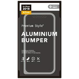 PGA iPhone XR 6.1インチ用 アルミニウムバンパー シルバー PG-18YBP03SV シルバー