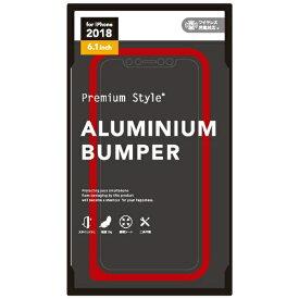 PGA iPhone XR 6.1インチ用 アルミニウムバンパー レッド PG-18YBP04RD レッド