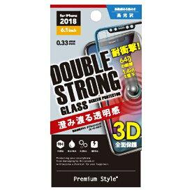 PGA iPhone XR 6.1インチ用 液晶保護ガラス 3Dダブルストロングガラス PG-18YGL11 クリア