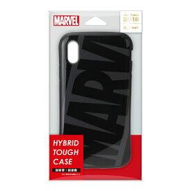 PGA iPhone XR 6.1インチ用 ハイブリッドタフケース PG-DCS506MVL ブラック グレー
