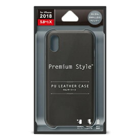 PGA iPhone XS 5.8インチ用 PUレザーケース ブラック PG-18XPU01BK ブラック