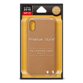PGA iPhone XS 5.8インチ用 PUレザーケース ブラウン PG-18XPU02BR ブラウン