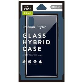PGA iPhone XS Max 6.5インチ用 ガラスハイブリッドケース ブラック PG-18ZGT01BK ブラック