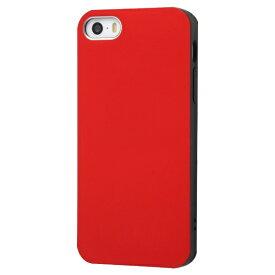 イングレム Ingrem iPhone SE(第1世代)4インチ/5s/5 TPUソフトケース Colorap/レッド IN-P17CP1/R レッド