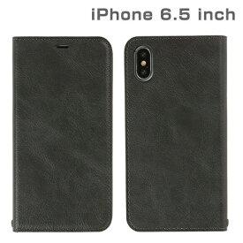 HAMEE ハミィ iPhone XS Max 6.5インチ専用CERTA ダイアリーケース(チャコールブラック) 276-897904