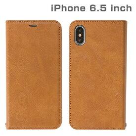 HAMEE ハミィ iPhone XS Max 6.5インチ専用CERTA ダイアリーケース(キャメル) 276-897911
