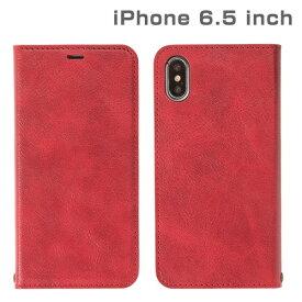 HAMEE ハミィ iPhone XS Max 6.5インチ専用CERTA ダイアリーケース(レッド) 276-897928
