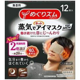 花王 Kao めぐりズム 蒸気でホットアイマスク FOR MEN 12枚
