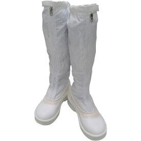 ゴールドウィン GOLDWIN ゴールドウイン 静電安全靴ファスナー付ロングブーツ ホワイト 24.5cm PA9850-W-24.5
