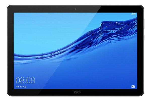 HUAWEI ファーウェイ AGS2-W09 Androidタブレット MediaPad T5 10 ブラック [10.1型 /ストレージ:16GB /Wi-Fiモデル][タブレット 本体 10インチ AGS2W09]