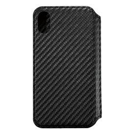 サンクレスト SUNCREST iPhone XR 6.1インチ用 NEWT CAT FLIP カーボンブラック