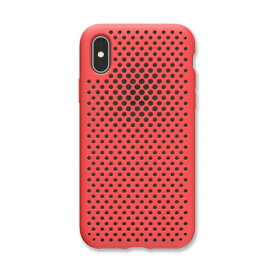 HAMEE ハミィ iPhone XS 5.8インチ専用 AndMesh メッシュiPhone XSケース(ブライトレッド) 612-958707