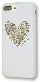 MSY iPhone 8 Plus/7 Plus用 Keith Haring PU Case Heart APA16-001HWHGL White/Gold