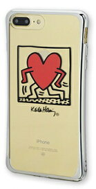 MSY iPhone 8 Plus/7 Plus用 Keith Haring TPU Case RunningHeart APA16-002RH