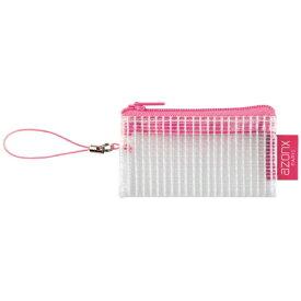セキセイ SEKISEI AZ-28P アゾン メッシュケース<ミニ> 携帯ストラップ ピンク
