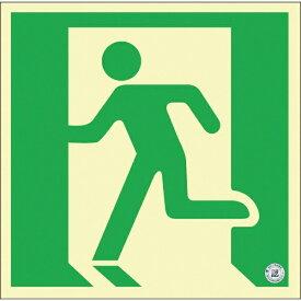 日本緑十字 JAPAN GREEN CROSS 緑十字 中輝度蓄光避難誘導ステッカー標識 非常口 150×150mm 消防認定品 068032《※画像はイメージです。実際の商品とは異なります》