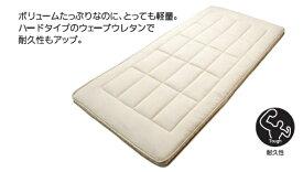 西川産業 NISHIKAWA 西川 しっかりウェーブ軽量敷ふとん ハードタイプ シングルロングサイズ(100×210cm/アイボリー) KNN2024501