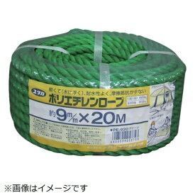 ユタカメイク YUTAKA ユタカメイク ロープ PEカラーロープ万能パック 9φ×20m グリーン