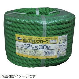 ユタカメイク YUTAKA ユタカメイク ロープ PEカラーロープ万能パック 12φ×30m グリーン