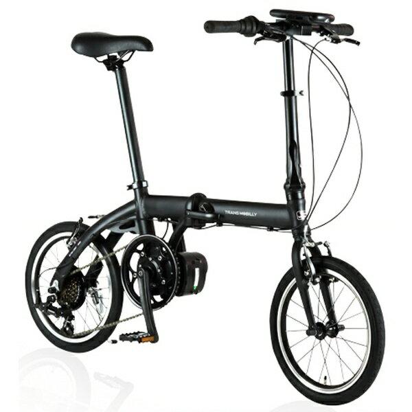 ジック 16型 電動アシスト折りたたみ自転車 ULTRA LIGHT E-BIKE TRANS MOBILLY(ブラック/6段変速) E-BIKE166E【組立商品につき返品不可】 【代金引換配送不可】