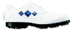 フットジョイ FootJoy 24.0cm/靴幅:4E レディース ゴルフシューズ eComfort Boa(ホワイト×ブルー) #98624