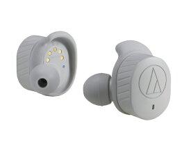 オーディオテクニカ audio-technica フルワイヤレスイヤホン GY グレー ATHSPORT7TWGY [リモコン・マイク対応 /ワイヤレス(左右分離) /Bluetooth][ATHSPORT7TWGY]【ワイヤレスイヤホン】