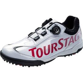 ブリヂストン BRIDGESTONE 24.5cm メンズ スパイクレス ゴルフシューズ TOURSTAGE SHTS8T(ホワイト) 【軽量タイプ/限定品】