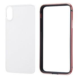 レイアウト rayout iPhone XS 5.8インチ/X用 アルミバンパー+背面パネル
