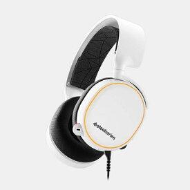 STEELSERIES スティールシリーズ 61507 有線ゲーミングヘッドセット Arctis 5 ホワイト [φ3.5mmミニプラグ+USB /両耳 /ヘッドバンドタイプ][61507]