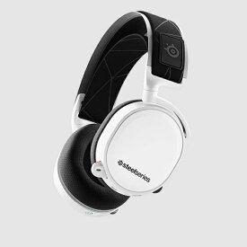 STEELSERIES スティールシリーズ 61508 ゲーミングヘッドセット Arctis 7 (2019 Edition) STEELSERIES(スティールシリーズ) ホワイト [ワイヤレス(USB)+有線 /両耳 /ヘッドバンドタイプ][61508]