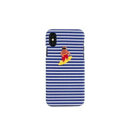 ROA ロア iPhone XS 5.8インチ用 WETHERBY BARTYPE BEAR SURFER BLUE