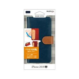 MSソリューションズ iPhone XS Max 6.5インチ用 PUレザーベルト回転ブックケース BOOK SPIN