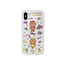 ROA ロア iPhone XS 5.8インチ用 LINE FRIENDS MY FAVORITE THINGSケース ファッショニスタチョコ KCL-TFC001