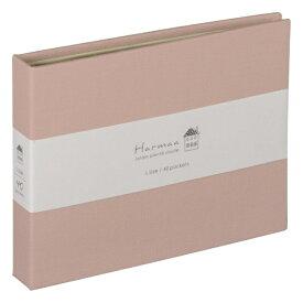 ナカバヤシ Nakabayashi ハルマー 溶着式ポケットアルバム L判40枚収納 AHRLP101P ピンク