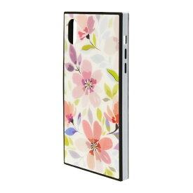 ラスタバナナ RastaBanana iPhone XR 6.1インチ用 ガラスTPU×PCハイブリッドケース 花柄 4337IP861HB ブラック