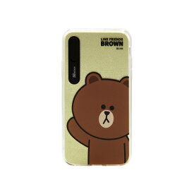 ROA ロア iPhone XS 5.8インチ用 LINE FRIENDS LIGHT UP CASE BASIC ブラウン KCL-LBA001