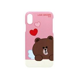 ROA ロア iPhone XS 5.8インチ用 LINE FRIENDS SLIM FIT CUPID LOVE ブラウン KCL-SCL001