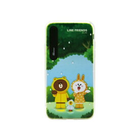 ROA ロア iPhone XS 5.8インチ用 LINE FRIENDS LIGHT UP CASE THEMA フォレスト KCL-LCT003