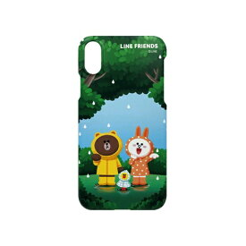 ROA ロア iPhone XS 5.8インチ用 LINE FRIENDS SLIM FIT CASE THEMA フォレスト KCL-SCT003