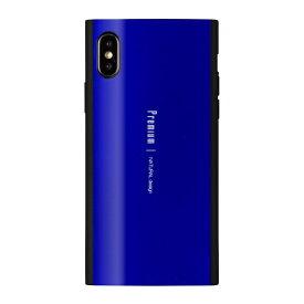 ナチュラルデザイン NATURAL design iPhone XS 5.8インチ用 背面ケース Premium Blue