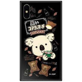 藤家 Fujiya iPhone XS 5.8インチ用 コアラのマーチ ガラスハイブリッド C. ココア&ミルク