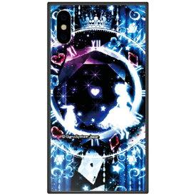 藤家 Fujiya iPhone XS 5.8インチ用 幻想デザイン ガラスハイブリッド F. 幻想アリスブルー