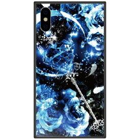 藤家 Fujiya iPhone XS 5.8インチ用 幻想デザイン ガラスハイブリッド P. サファイアスティック