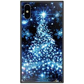 藤家 Fujiya iPhone XS 5.8インチ用 幻想デザイン ガラスハイブリッド S. ブルーツリー