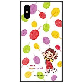 藤家 Fujiya iPhone XS 5.8インチ用 不二家 ガラスハイブリッド F. ポップキャンディ
