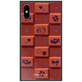藤家 Fujiya iPhone XS 5.8インチ用 不二家 ガラスハイブリッド G. チョコレートペコ